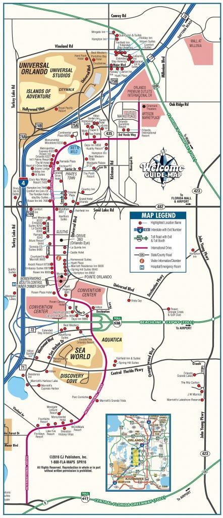 Orlando Maps | Florida, U.s. | Maps Of Orlando - Printable Map Of Orlando