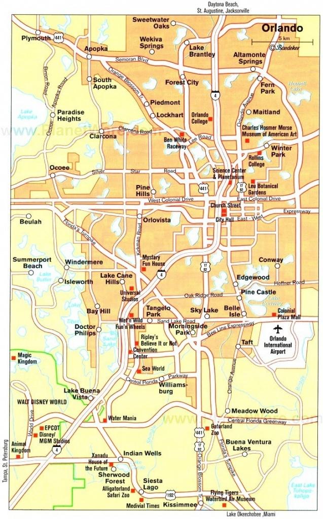 Orlando Maps | Florida, U.s. | Maps Of Orlando - Road Map To Orlando - Road Map To Orlando Florida