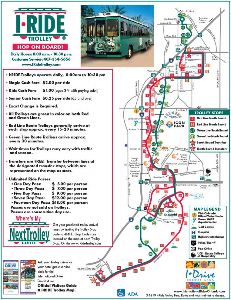 Orlando Maps - Maps Of I-Drive - International Drive Resort Area - Map Of Orlando Florida International Drive