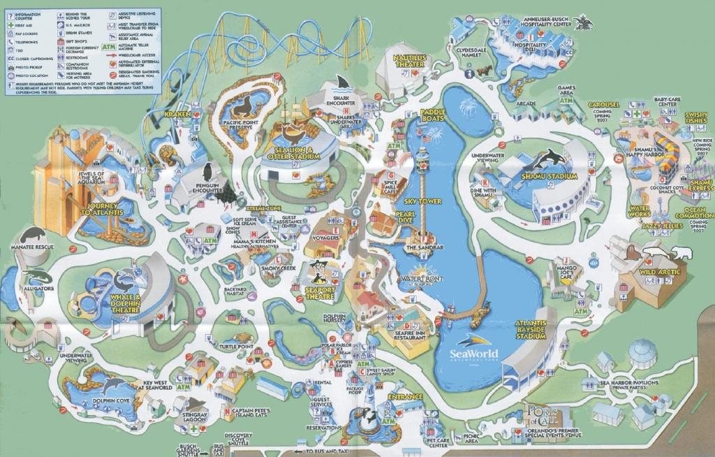 Orlando Seaworld Map - Printable Map Of Sea World Orlando