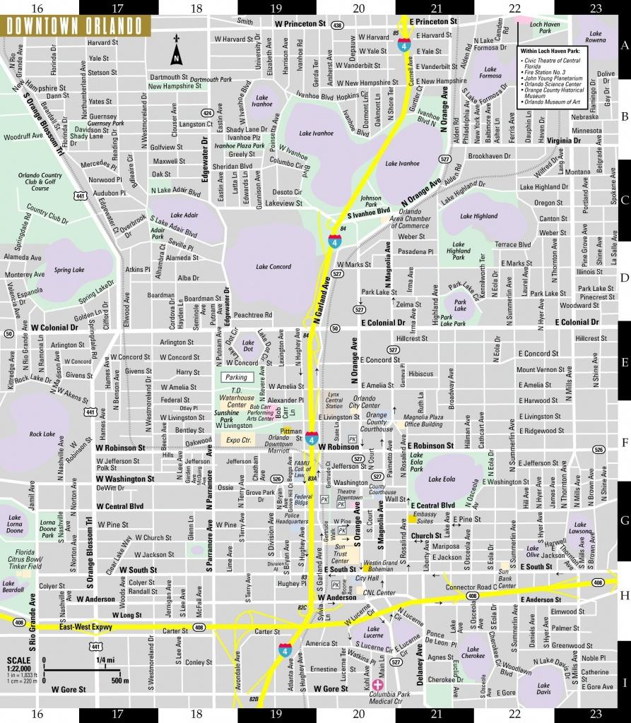 Orlando Street Map - Street Map Of Orlando (Florida - Usa) - Street Map Of Orlando Florida