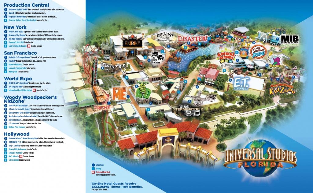 Orlando Universal Studios Florida Map - Orlando Florida Universal Studios Map