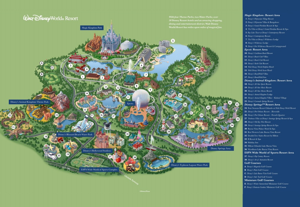 Orlando Walt Disney World Resort Map - Florida Resorts Map