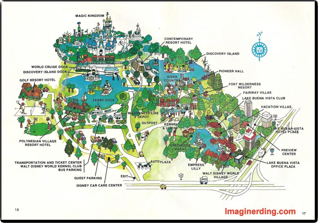 Orlando Walt Disney World Resort Map In Ellstrom Me At 9 ...