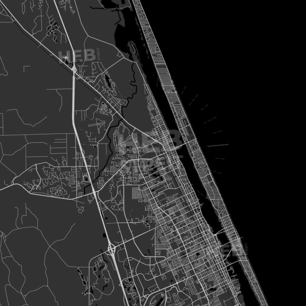 Ormond Beach, Florida - Area Map - Dark - Street Map Of Ormond Beach Florida