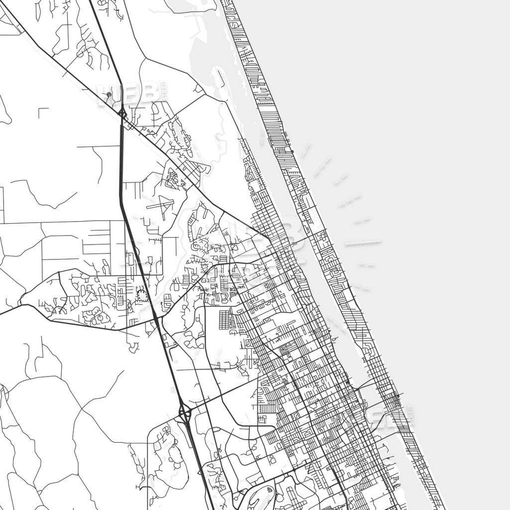 Ormond Beach, Florida - Area Map - Light - Street Map Of Ormond Beach Florida