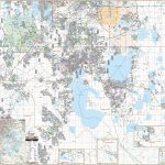 Osceola Co & Kissimmee, Fl Wall Map – Kappa Map Group   Map Of Osceola County Florida