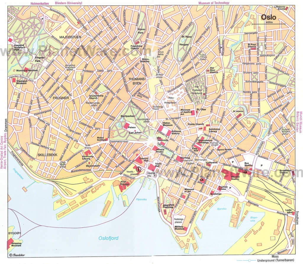 Oslo Map - Detailed City And Metro Maps Of Oslo For Download - Printable Map Of Oslo Norway