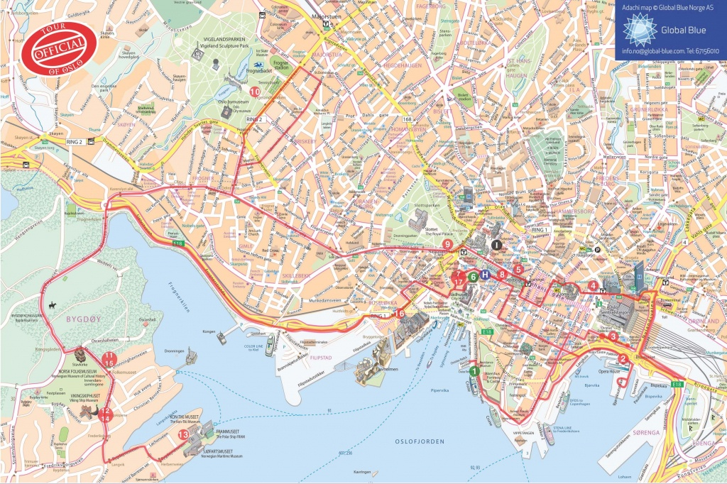 Oslo Map | Tourist Map Of Oslo ©@ | Thai Ambassy - Printable Map Of Oslo Norway