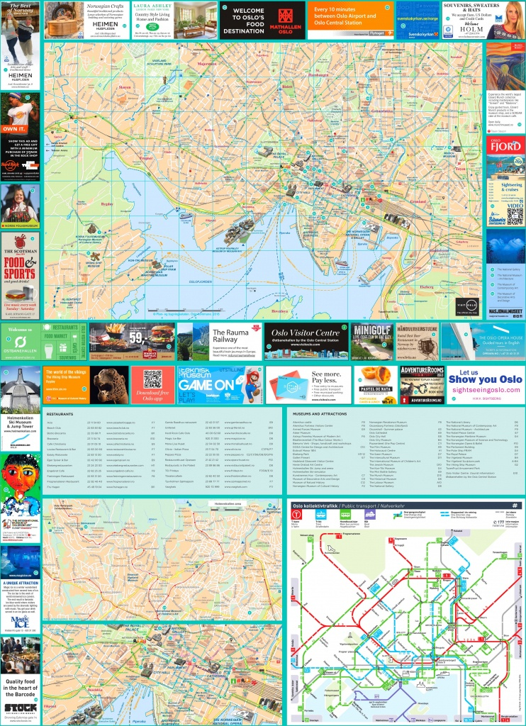 Oslo Tourist Map - Oslo Tourist Map Printable