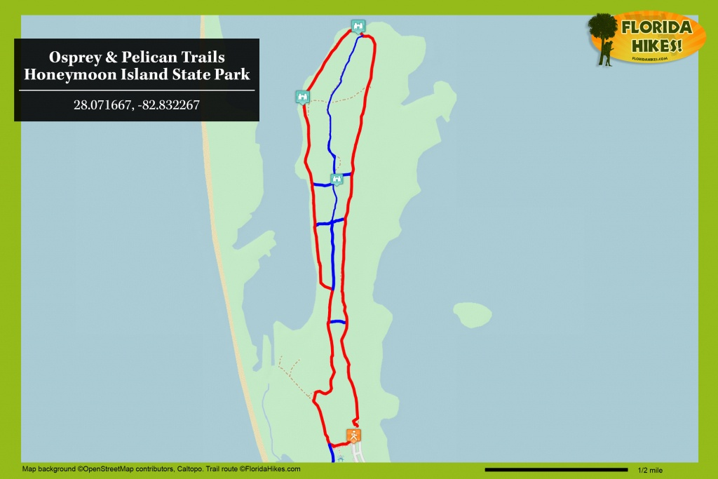 Osprey Trail | Florida Hikes! - Osprey Florida Map