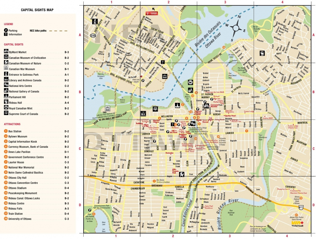 Ottawa Downtown Map - Printable Map Of Ottawa