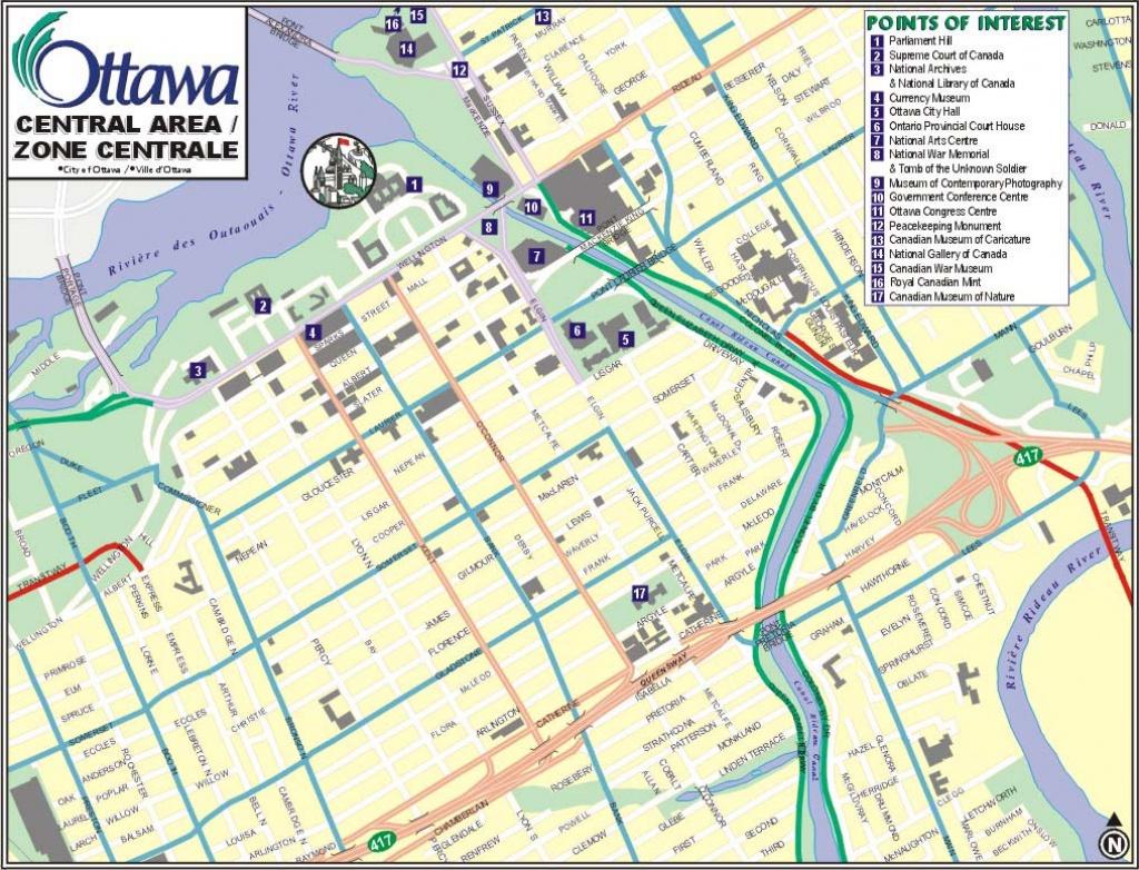 Ottawa Map, Map Of Ottawa, Ontario, Canada, Maps For Ottawa - Printable Map Of Ottawa