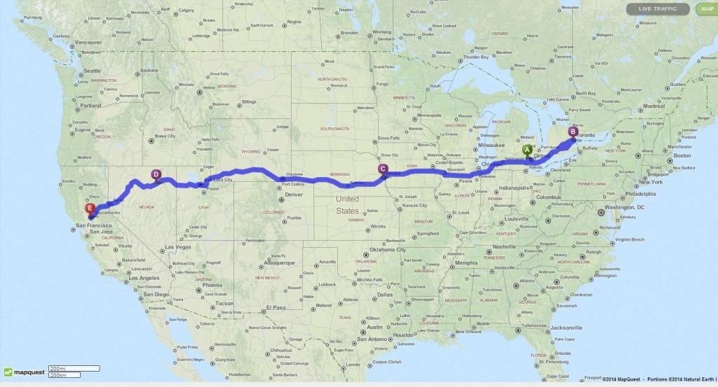 Our Road Trip Itinerary To California | My Masala Life - Toronto California Map