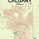 Ourposter 'calgary City Map' Graphic Art Print Poster In   Printable Map Of Calgary