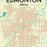 Ourposter 'edmonton City Map' Graphic Art Print Poster In   Printable Map Of Edmonton