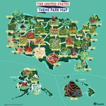 Outdoor Adventure: A Theme Park Map Of The United States | Expedia   Southern California Amusement Parks Map