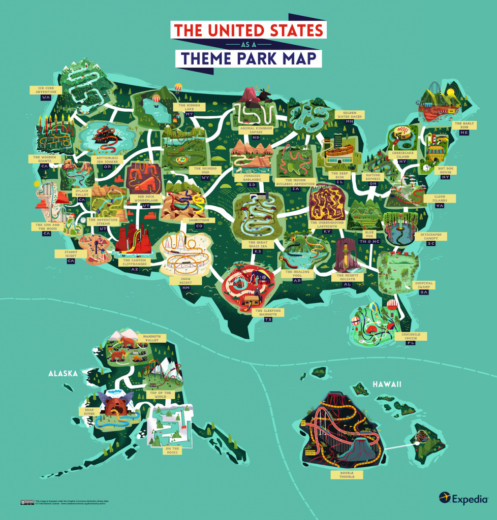 Outdoor Adventure: A Theme Park Map Of The United States | Expedia - Southern California Amusement Parks Map