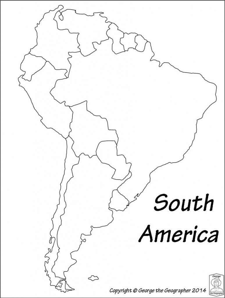 Outline Base Maps - Printable Map Of South America With Countries
