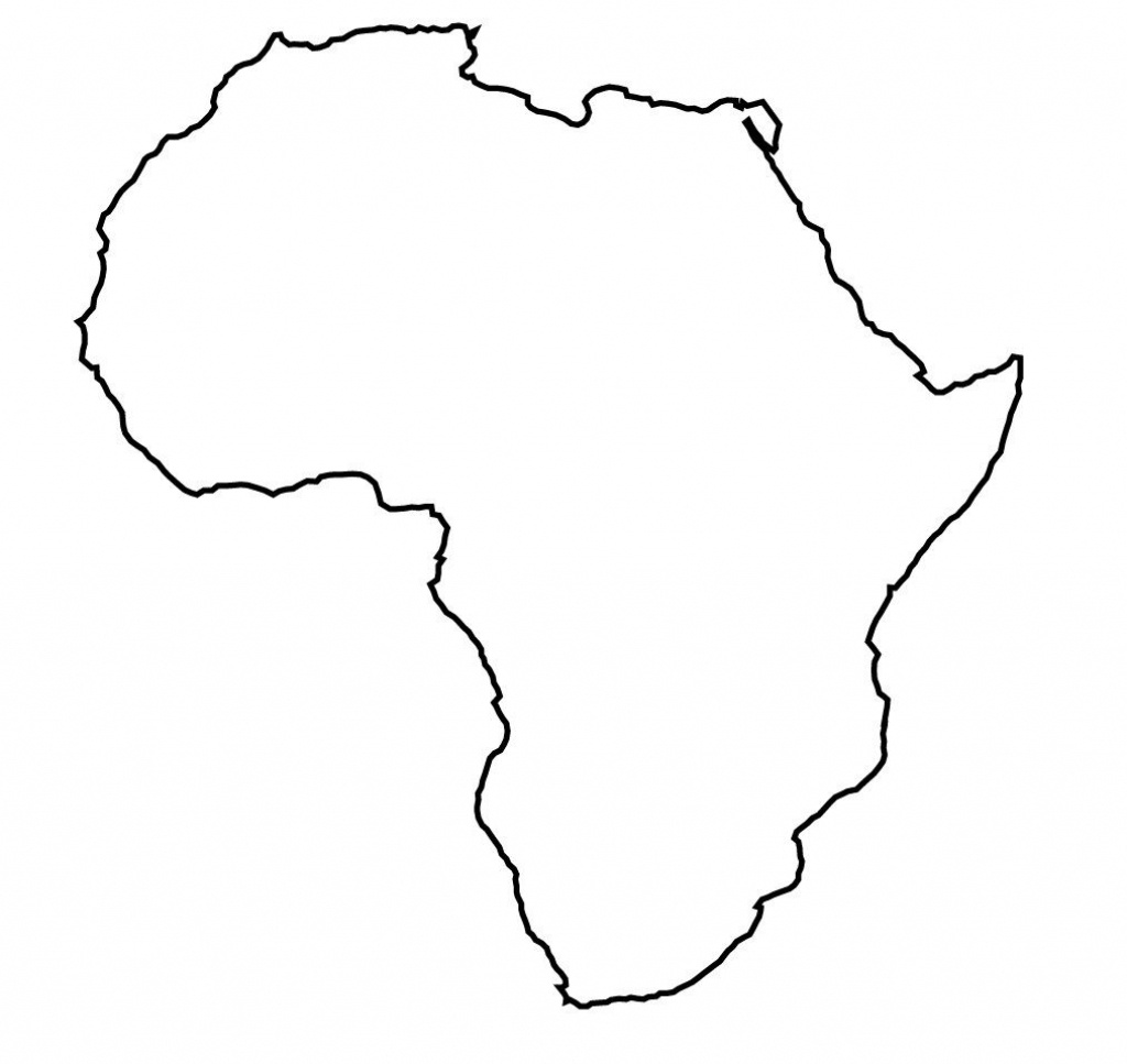 Outline Map Of Africa Hd With Africa Map Template Best Photos - Africa Outline Map Printable
