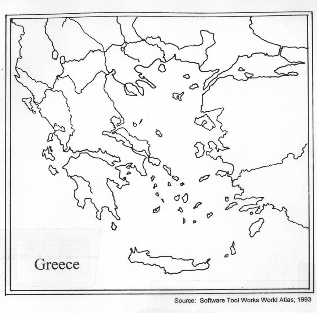 Outline Map Of Ancient Greece And Travel Information   Download Free - Outline Map Of Ancient Greece Printable