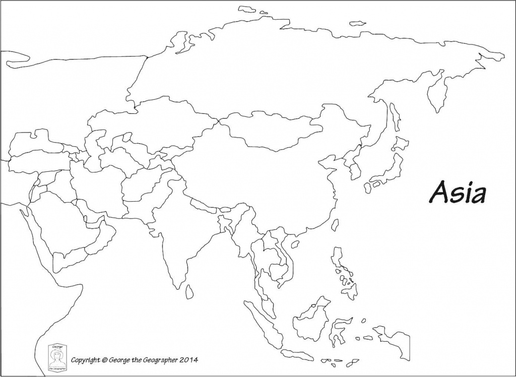 Outline Map Of Asia Political With Blank Outline Map Of Asia - Asia Outline Map Printable