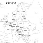 Outline Map Of Europe Political With Free Printable Maps And For   Printable Black And White Map Of Europe