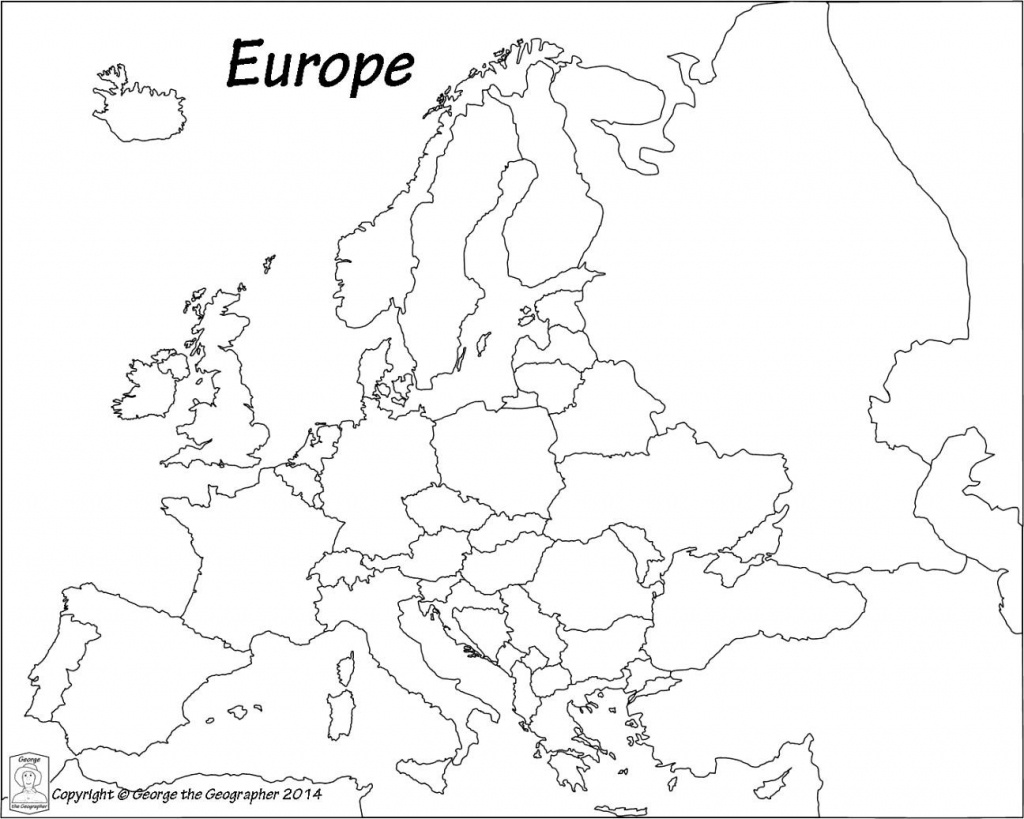 Outline Map Of Europe Political With Free Printable Maps And In - Europe Outline Map Printable