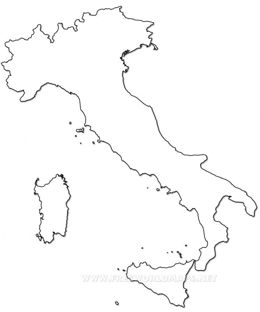 Outline Map Of Italy Printable With Italy Political Map - Printable Map Of Italy To Color