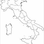 Outline Map Of Italy With Regions Coloring Page | Free Printable   Printable Map Of Italy To Color