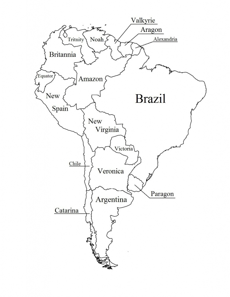 Outline Map Of South America Printable With Blank North And For New - South America Outline Map Printable