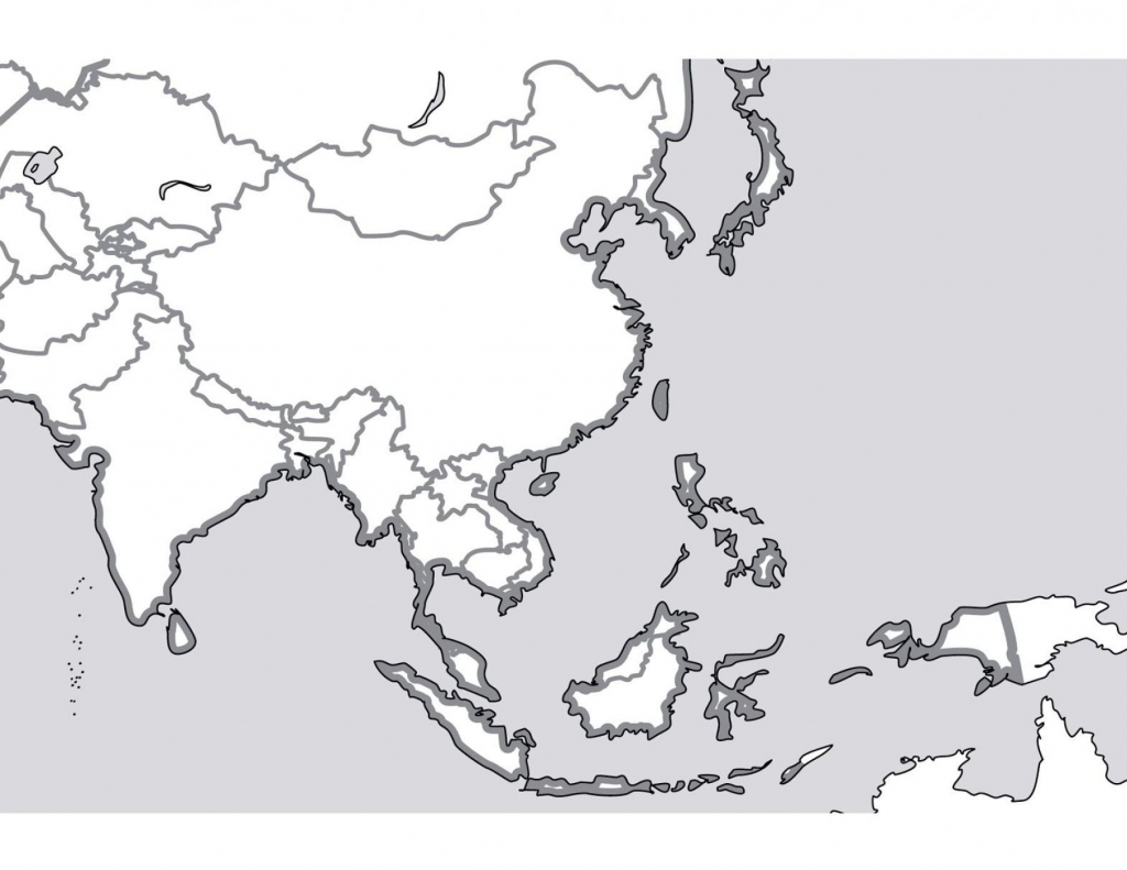 Outline Map Of South Asia New Printable Blank Southeast - Asia Outline Map Printable