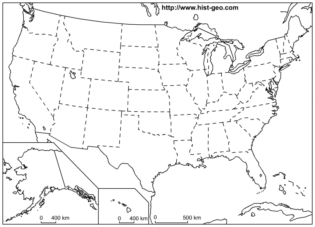 Outline Map Of The 50 Us States | Social Studies | Geography Lessons - Blank Printable Map Of 50 States And Capitals