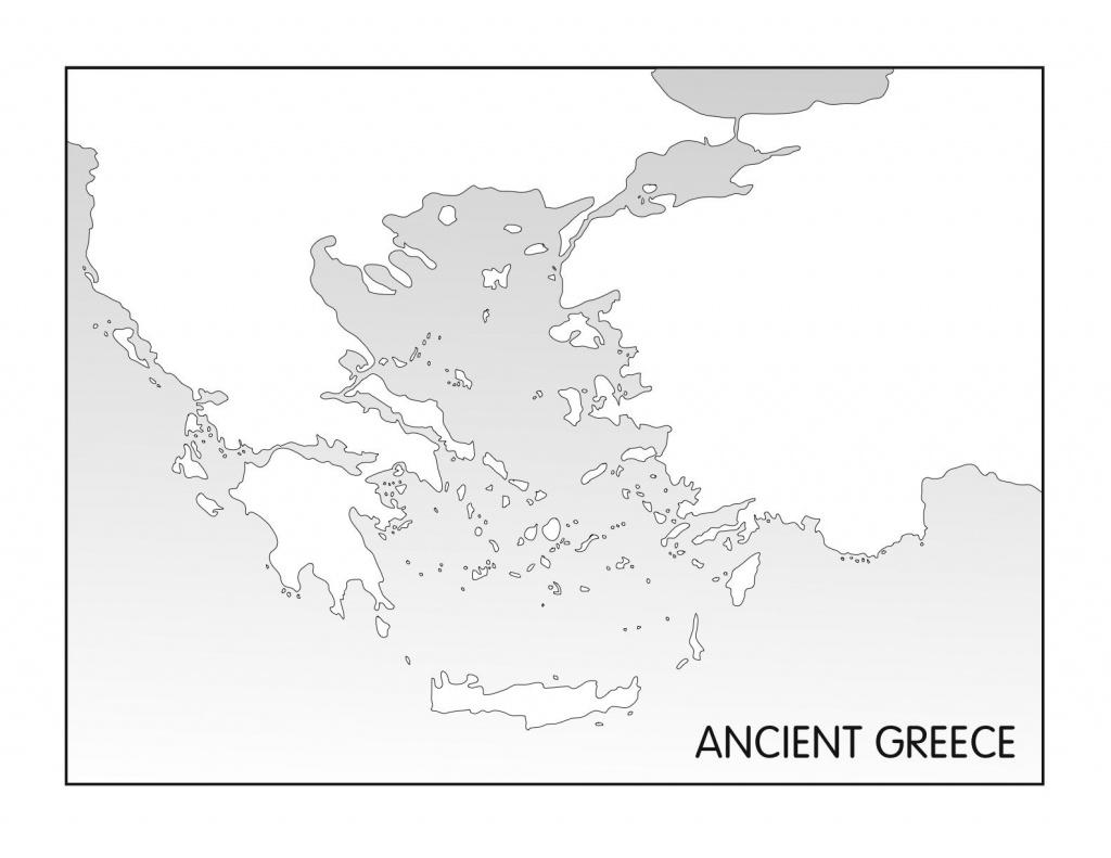 Outline Maps: Ancient Egypt And Greece   Random   Ancient Greece - Outline Map Of Greece Printable