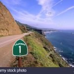 Pacific Coast Highway California Route 1 Scenic Near Big Sur Stock   California Highway 1 Scenic Drive Map