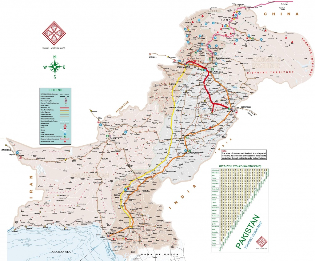 Pakistan Map The Maps Of Pakistan - Printable Map Of Pakistan