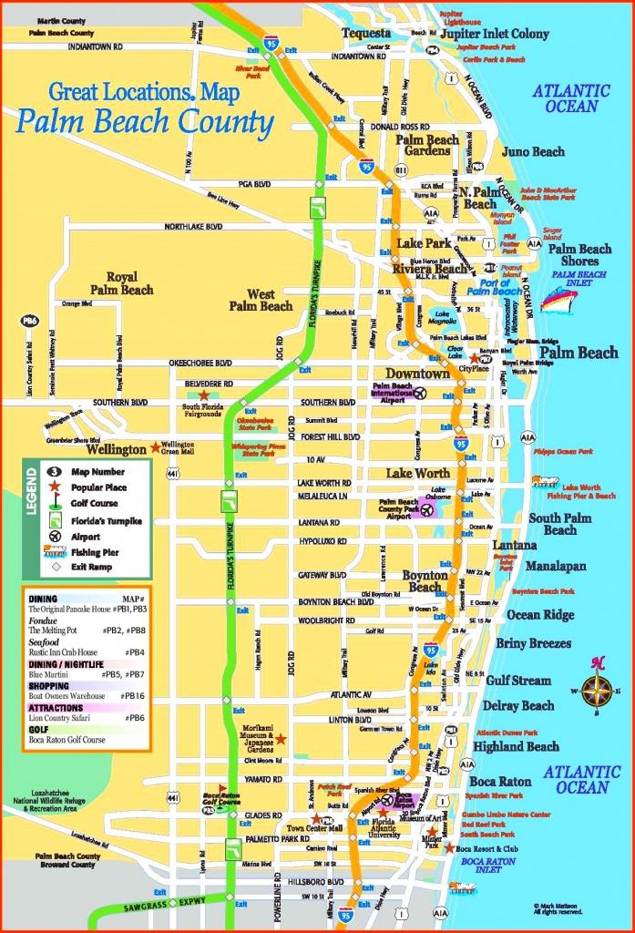 Palm Beach County Tourist Map - Map Of Palm Beach County Florida