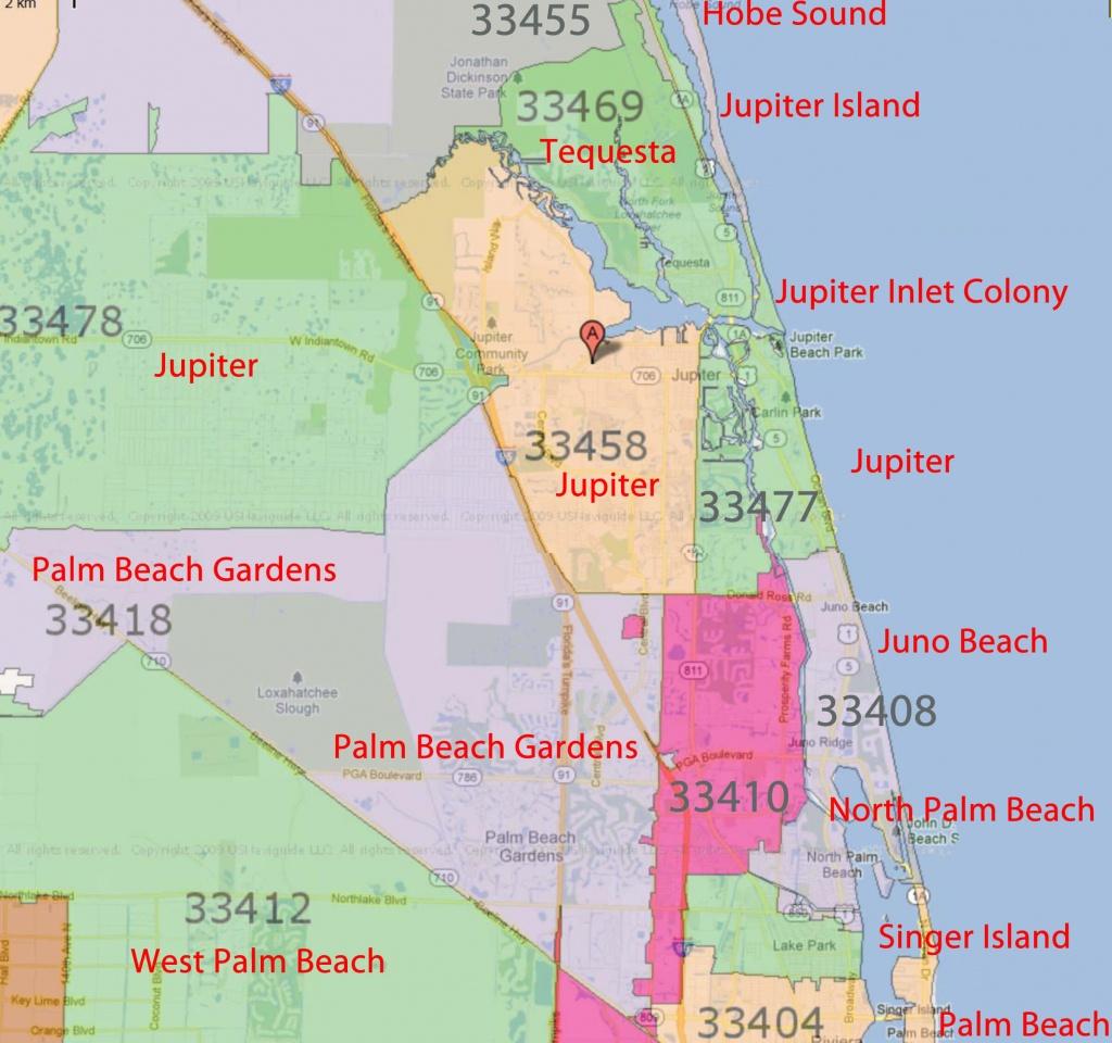 Palm Beach Gardens, Jupiter Florida Real Estatezip Code - Singer Island Florida Map