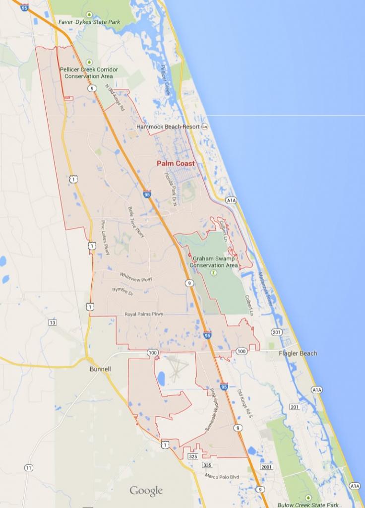 Palm Coast Florida Map - Where Is Palm Coast Florida On The Map