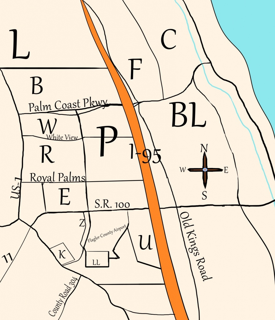 Palm Coast's Crazy Sections – I Love Palm Coast - Florida Section Map