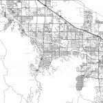 Palm Desert, California   Area Map   Light | Hebstreits Sketches   Where Is Palm Desert California Map