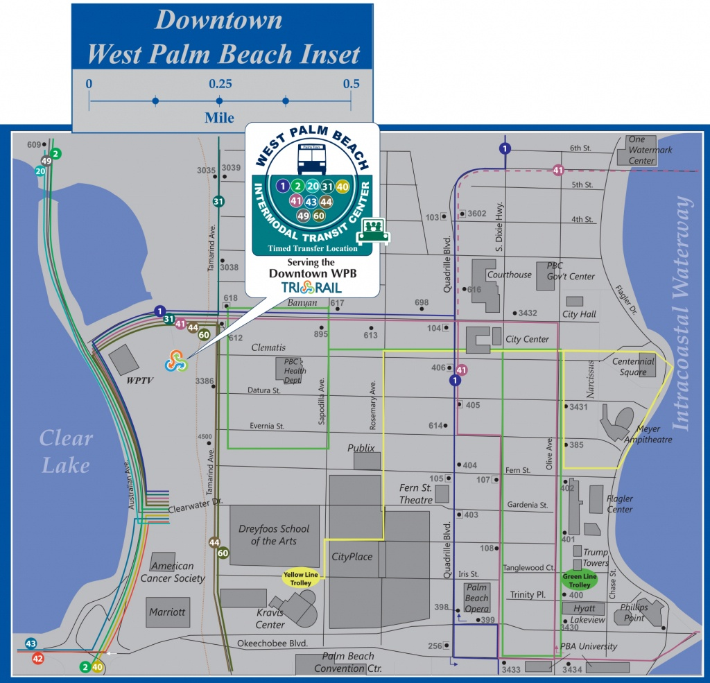 Palm Tran Bus Service - Highland Beach Florida Map