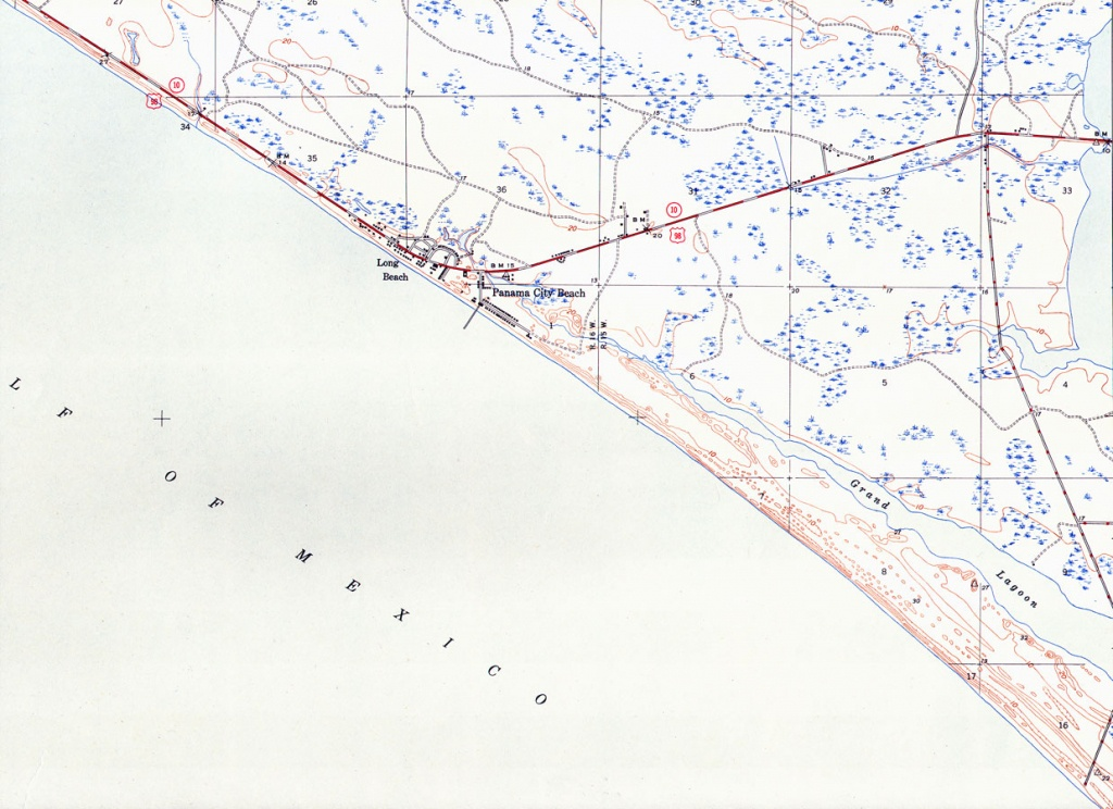 Panama City Beach, Florida, 1943 - Panama Beach Florida Map