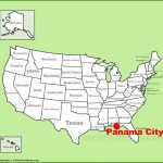 Panama City Location On The U.s. Map   Panama Florida Map