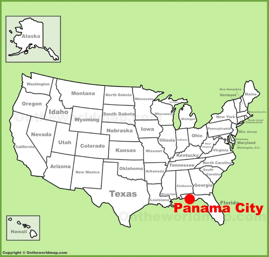 Panama City Location On The U.s. Map - Panama Florida Map