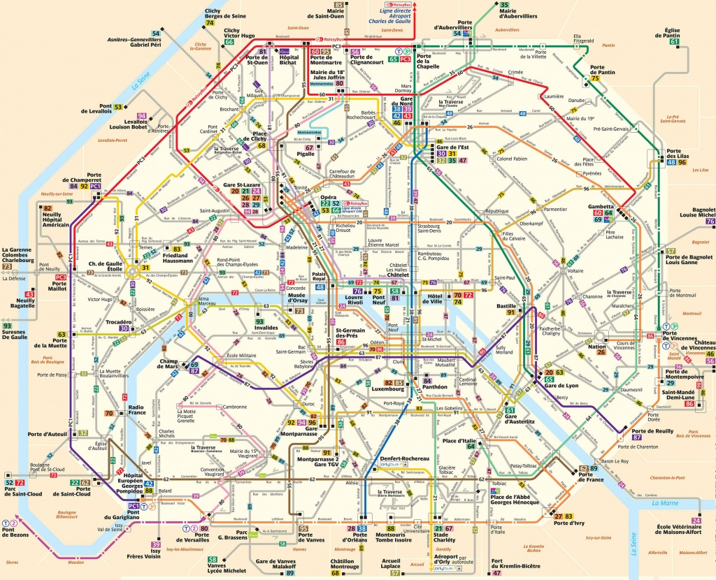 Paris Attractions Map Pdf - Free Printable Tourist Map Paris, Waking - Paris Tourist Map Printable