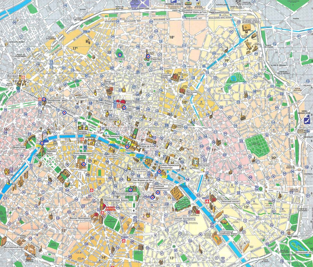 Paris Map - Detailed City And Metro Maps Of Paris For Download - Printable Map Of Paris