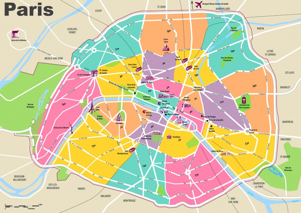Paris Maps | France | Maps Of Paris - Printable Map Of Paris France