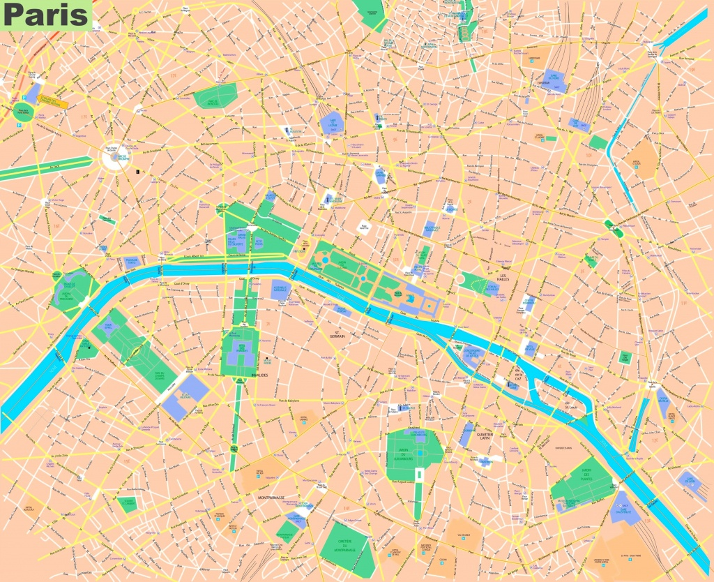 Paris Streets Map - Street Map Of Paris France Printable