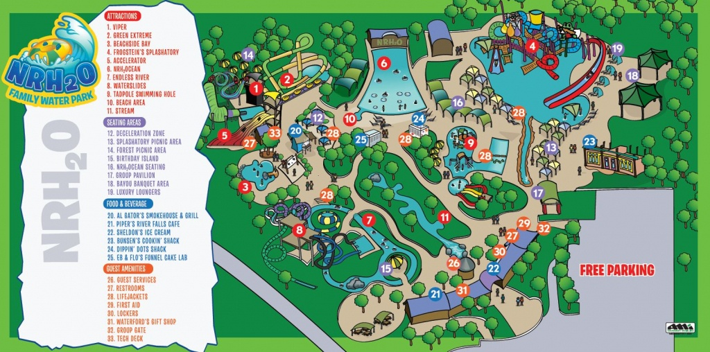 Park Map   Nrh₂O Family Water Park   North Richland Hills, Tx - Richland Hills Texas Map
